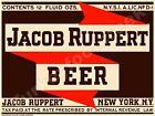 """JACOB RUPPERT BEER LABEL 9"""" x 12"""" METAL SIGN"""