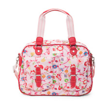 Oilily - NWT - Light Pink Floral Ivy Vine Print Logo Carry On/All Bag - Portugal