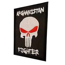 AFGHANISTAN FIGHTER ISAF punisher skull morale army parche touch fastener patch