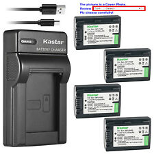 Kastar Battery Slim Charger for Sony NP-FH50 Sony DSLR-A230Y DSLR-A290 DSLR-A330