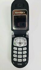 Motorola Cellular Flip Phone V180 tested works Original box Wall/Car charger