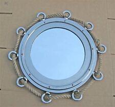 Large Roped Porthole Mirror - 33� Diameter - Aluminum