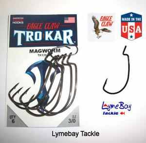 Eagle Claw TROKAR Weedless Lure Hooks - 3/0 to 8/0 - TK120 Surgically Sharpened