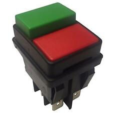 Waterproof  Push Button Switch DPST Red Green 22x30mm