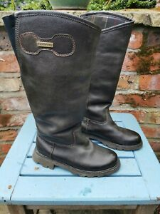 Ladies Barbour Ballymore F300 Brown Leather Tall Riding Style Boots, UK 4 EU 37