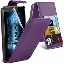 "Apple iphone 6 6s + plus 5.5"" PU Leather wallet flip case pouch cover Purple"