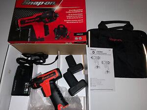 Snap On 14.4v Cordless Screwdriver Set Latest Model  CTSEU761AO Orange New Boxed