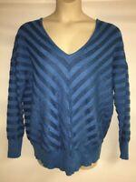 Lane Bryant Sweater Womens Blue Stripes Plus Size 14/16 18/20 22/24 26/28 NWOT