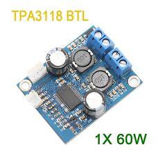 DC 12V-24V TPA3118 BTL 1X60W mono digital amplifier board AMP Module Verstärker