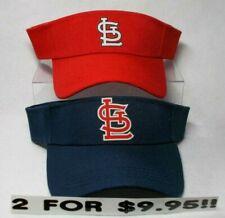 official photos a6bf7 d4076 St. Louis Cardinals Heat Applied Flat LOGOS on 2 visor cap hat