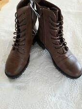 NWT Brown Hiking / Combat Boots Women's Size 8