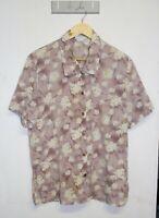 Vintage Katies Shirt Size 12 Pink Floral Print Retro Button Down Blouse