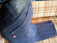 Levis Mens Size 42x34 (Actual 40x32) 501 Dark Gray Button-Fly Jeans 100% Cotton