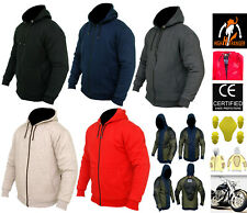 Men Motorbike Fleece Hoodies Reinforced with DuPont™ Kevlar® fiber