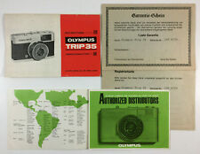 Vintage Olympus Trip 35 Instructions Distributors Brochure And Guarantee Cards