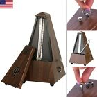 Antique Vintage Wood Mechanical Metronome Tempo Music Timer Classical Wooden US