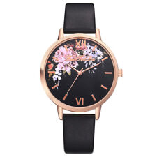 Womens Casual Leather Watch Ladies Stainless Steel Case Quartz Wrist Watches VT