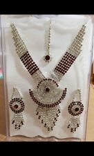 Noorschmuck schmuckset indian Bollywood jewellery hochzeit bridal super shining