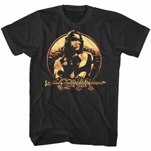 Conan the Barbarian Vintage Shield Men's T Shirt Arnold Schwarzenegger Sword