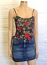 I.N.C International Concepts Corseted Floral Camisole Size L