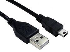 1.8m Mini USB Cable sincronización y carga de plomo tipo A a 5 Pin B Cargador de teléfono