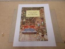 Mopar NOS Original Owners Manual 50 Plymouth