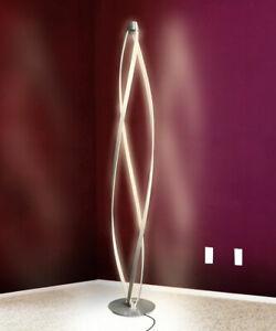 LED lampadaire lampe pied sol lumière chambre coucher spirale dimmable 36W 140cm