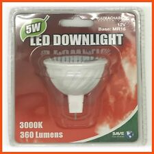 6 x 5W LED DOWNLIGHT BULB 12v MR16 360lm Warm Recessed Low Energy Lamp Lighting