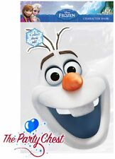 OFFICIAL Disney congelato Olaf carta Maschera Disney Olaf pupazzo di neve Carattere Viso carta