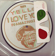 RARE Yello I Love You UK 45 3D pic disc record with glasses