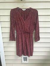 Madewell Silk Burgundy Polka Dot Dress size 2