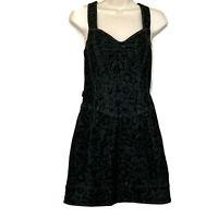 Betsey Johnson Women's Size 8 Denim Paisley Print Mini Romper Dress