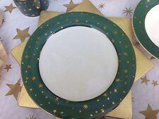 "Dinnerplate Galaxy Green Gold Star Sakura 10 1/2"""