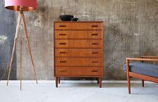 60er TEAK highboard comò Danish 60s Cabinet chest of drawers Mid Century
