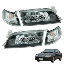 1992 93 - 1996 Pair Front Head Light Lamp Clear LH RH Trim Toyota Corolla Ae100