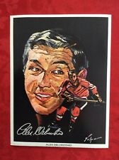 Alex Delvecchio 1971 Detroit Red Wings Nicholas Volpe Hockey Portrait Print