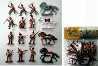 NAPOLEONIC BRITISH TOY SOLDIERS Cavalry Infantry Horses Painted 16 PCS FREE SHIP