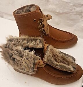 Timeless brown Fur Lined Suede Ankle Boots, Brand New with box. Size 6 UK, 39 EU