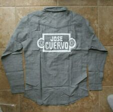 NWT Jose Cuervo Tequila La Rojeña Long Sleeve Button Front Gray Shirt X-Large