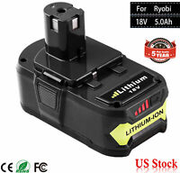 5.0Ah For Ryobi P108 18V Lithium Ion Battery Replaces P122 P105 P103 P102 18Volt