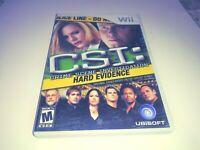 CSI: Crime Scene Investigation - Hard Evidence (Nintendo Wii, 2008) Complete CIB