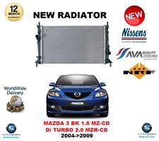 PER MAZDA 3 NERO 1.6 MZ-CD Di TURBO 2.0 MZR-CD 2004->2009 RADIATORE QUALITÀ OE