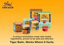 Tiger Balm White OR Red Plus  Ointment Various Sizes 4g-30g