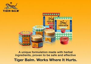 Tiger Balm White OR Red Plus Ointment 4g-30g Relief from Headaches,Muscular ache