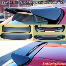 TR Style Roof Spoiler Wing (ABS) + Red LED Fits 96-00 Honda Civic 3dr Hatch