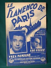 Léo Ferré  1950s Sheet Music printed in France (Lot of 8)