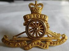 ROYAL CANADIAN ARTILLERY WWII LARGE SIZE CAP BADGE