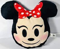"""Disney MINNIE MOUSE 13"""" Plush Smiling Emoji Pillow"""