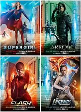 4 The Flash Supergirl Arrow The Legend 2016 Mirror Surface Postcard Promo Card A