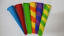 6 pk Silicone Popsicle Mold  Ice Pop Maker Ice Cream Mold swirl and solid colors